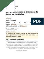 Los Druidas Ante La Irrupción de Julio César