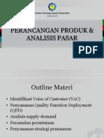 perancangan Produk Dan Analisis Pasar