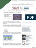 Intermediate Guide to E-Mini Futures Contracts - Rollover Dates and Expiration _ Investopedia