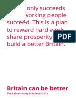 Labour Manifesto 2015