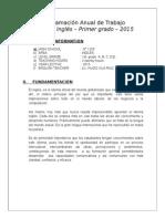 Programación Anual de Trabajo Área de Inglés – 2015
