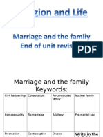 marriage and family revision booklet