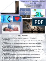 revision - religion, environment & medical issues