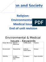 environmental and medical issues revision activity