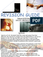 revision matters of life & death