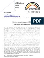 2004 NEUES FORUM Leipzig Kommunalwahl