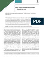 Affective Priming of Perceived Environmental Restorativeness