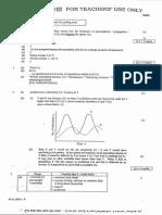 1999 AL Biology paper 1+2 marking scheme