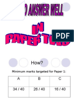 Technique to AnswerPaper 2