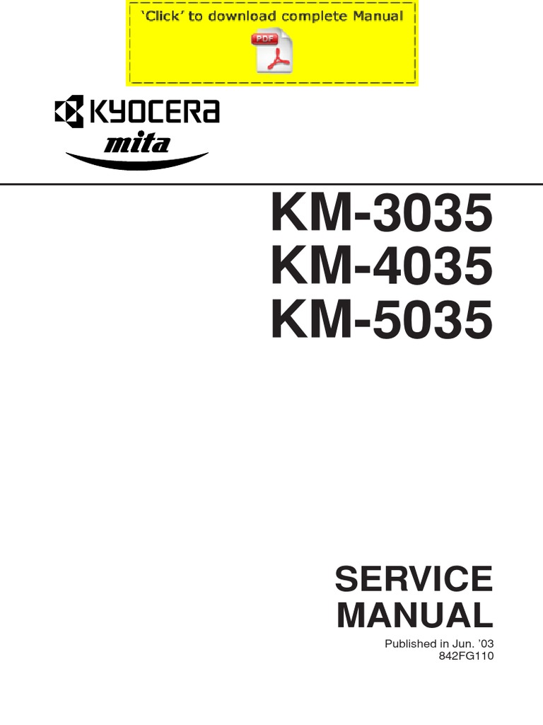 Kyocera km-3035 4035 5035 service manual pages   image scanner.