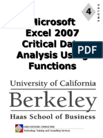 Uc Excel 2007 Module 4 - Data Analysis