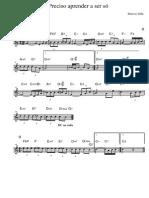 Preciso Aprender a Ser Só (C) (Marcos Valle; Lead Sheet)