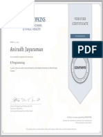R Programming Coursera Verified Certificate