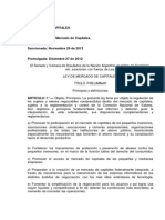 Mercado de Capitales. Ley No 26.831
