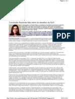Conceição Rezende fala sobre os desafios do SUS