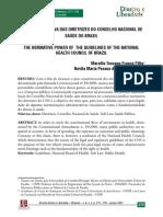 A FORÇA NORMATIVA DAS DIRETRIZES DO CONSELHO NACIONAL DE SAÚDE DO BRASIL
