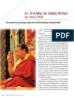 Teach_refuge_1 article by Sakya Trizin