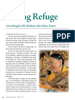 Teach_refuge_2 article by Sakya Trizin