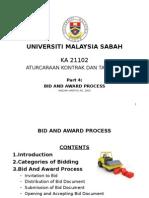 4 Bid and Award Prdocess