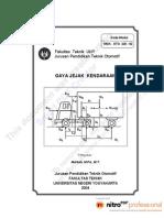 Modul Mekanika Gerak Kendaraan OTO226-02