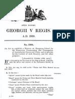 Flora and Fauna Reserve Act (Kangaroo Island) 1919