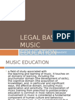 Legal Basis of Music Education