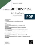 Maths Odyssée 1ES - Livre Prof