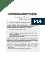 Vista Publica sobre Derecho a Salud, Colegio de Abogados y Abogadas de Puerto Rico