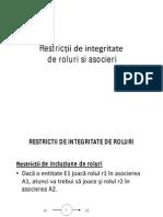 Restrictii de Integritate de Roluri Si Asocieri