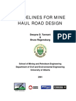 PTM-guidelines for Mine Haul Roads Design