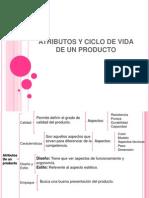 Atributos y Ciclo de Vida del Producto