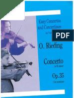 O Rieding Concerto in Bm Violin and Piano