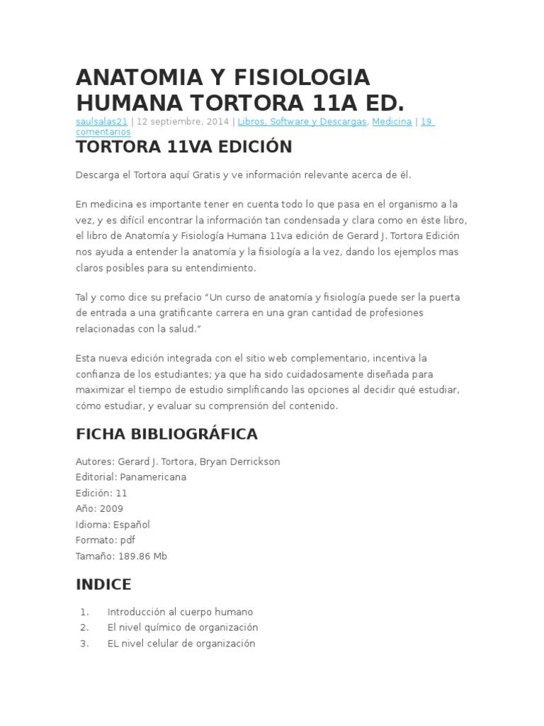 Fantástico Descarga Gratuita Anatomía Y Fisiología Humana Pdf Friso ...