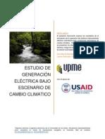 Generacion Electrica Bajo Escenarios Cambio Climatico
