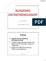 MATERI 6 Academic Entrepreneurship