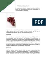 Vitaminas de Las Uvas