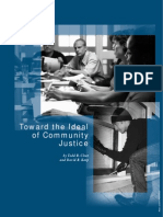 Toward the Ideal of Community Justice