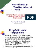 De La ZEE a Las Políticas Territoriales Regionales