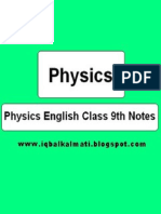 Physics Class 9th Notes (Iqbalkalmati.blogspot.com)