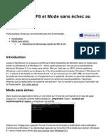 Windows 8 1 f8 Et Mode Sans Echec Au Demarrage