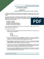 Actividades Estructura de Datos Java