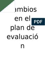Plan de Evaluación. v. Semestre. Dificultades Del Aprendizaje