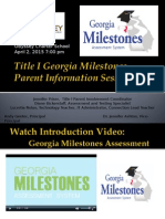 2015 Odyssey Title I Milestones Presentation