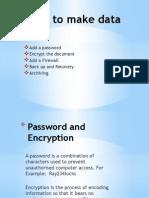 ways to make data safe