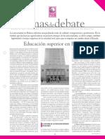"""Temas de Debate - """"Educación Superior en Bolivia"""""""