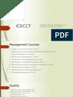 Icecct Courses