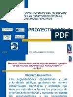 Ordenamiento participativo del territorio y gestión de los recursos naturales en los andes peruanos