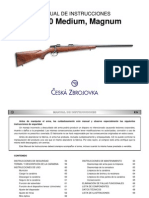 Manual de Instrucciones Cz 550 Magnum Medium Es