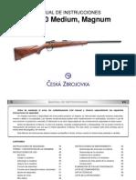 Manual de Instrucciones Cz 550 Magnum Medium Es