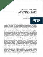 Martinez Martin - La Cultura Nobiliaria y Sociabilidad Cultural en España Siglo XIX
